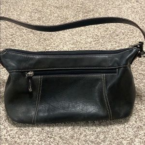 Tignanello Black Leather Shoulder Bag